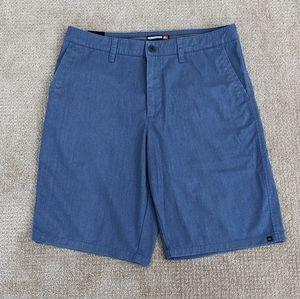 Quicksilver Flat Front Shorts Blue Men's Size 34